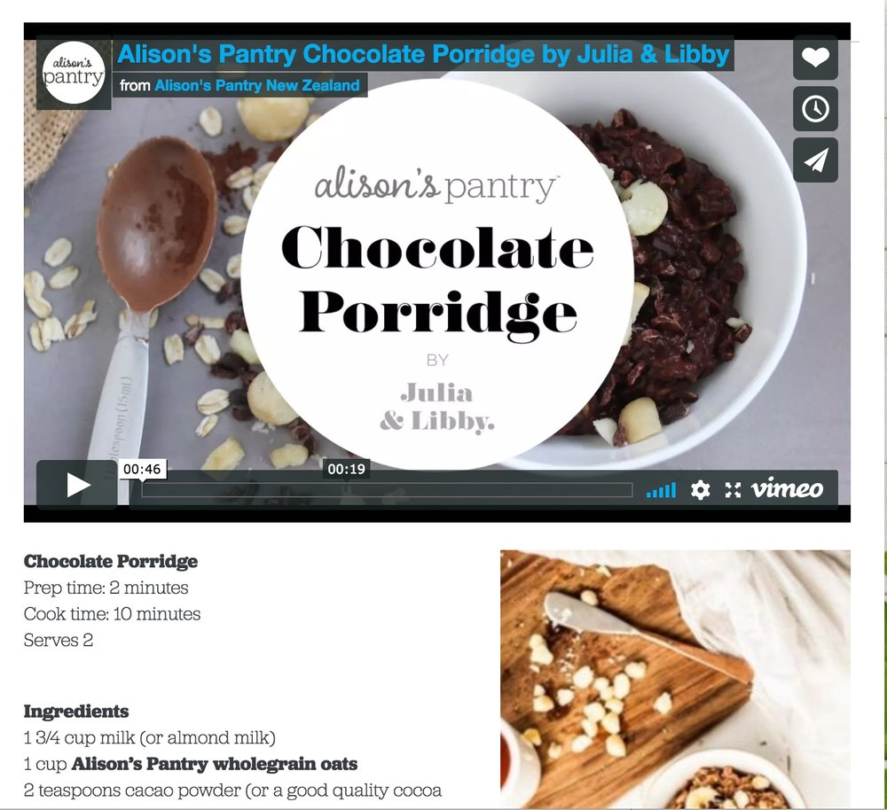 Alison's Pantry -  Watch Here