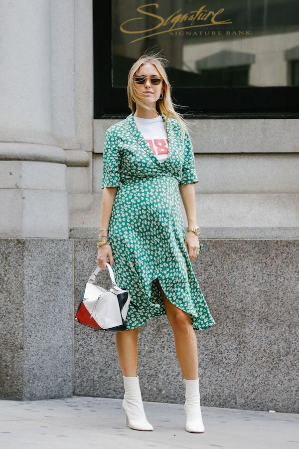 Le-Bump-Pregnant-Maternity-Street-Style-Pernille-Teisbaek-Ganni-Wrap-Dress-Loewe-Puzzle-Bag-White-Booties-Team-Peter-Stigter.jpg