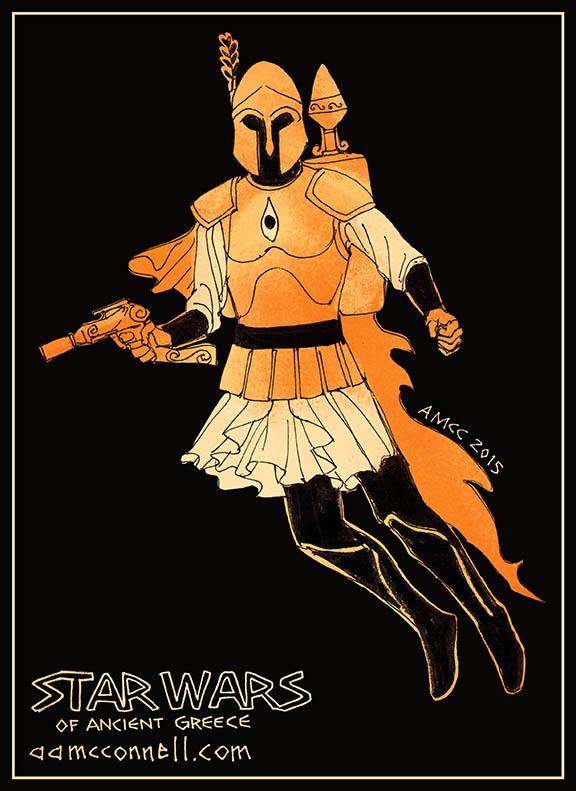 Hoplite Boba Fett, artwork by Aaron McConnell.