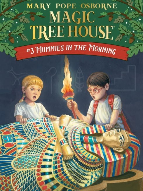 "July 29 - Aug 2 - Magic Tree House - Mummies In The Morning - New (Track 3)     Bookworms - Rising 1st-3rd graders, ages 6-8    Travel with Jack and Annie to ancient Egypt and experience the time period by making your own paper, pharaoh masks, hieroglyphic tablets, and more. Campers will receive a copy of ""Mummies in the Morning"" Magic Tree House #3 by Mary Pope Osborne.   All camps include a 10% in-store discount for the week of your camp."
