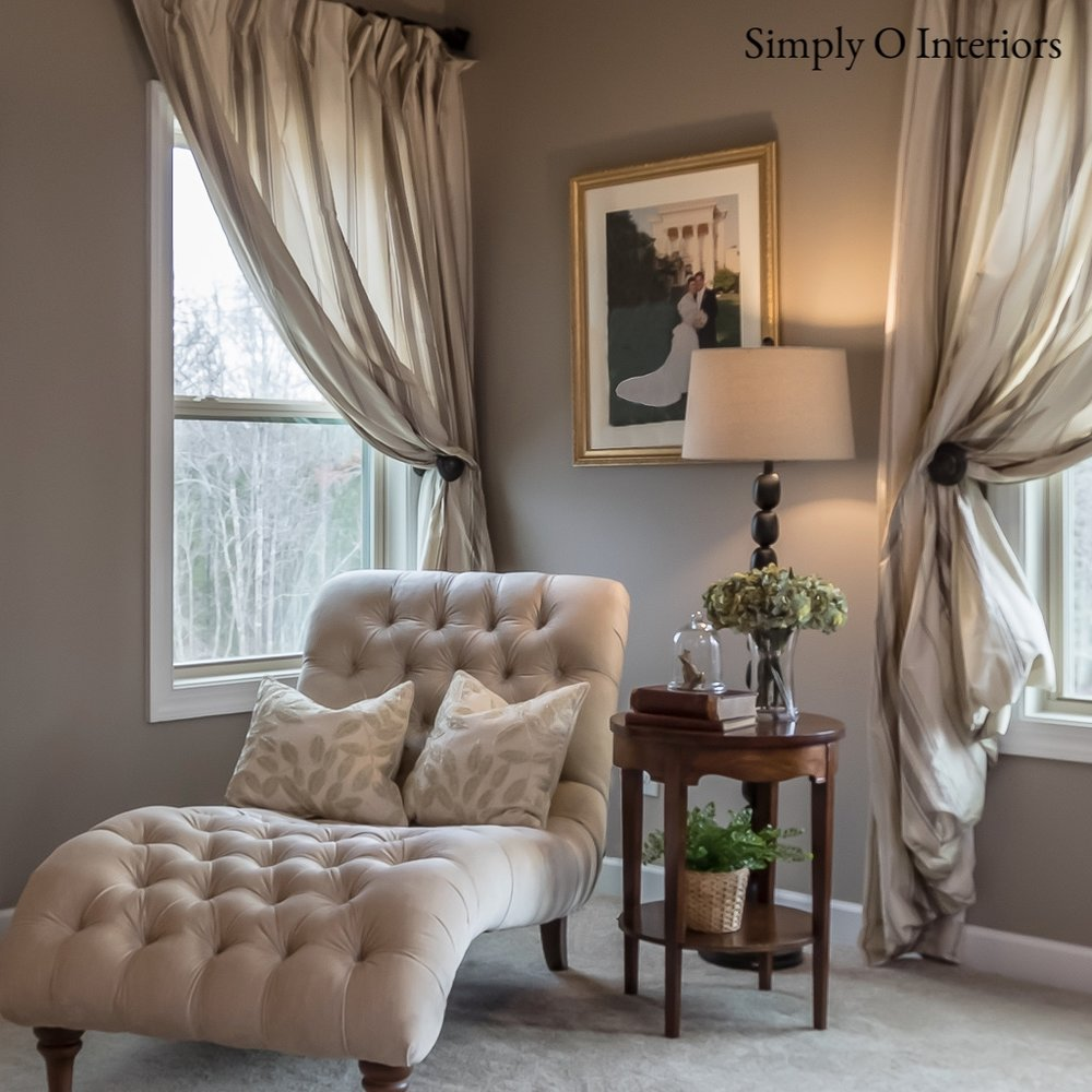 Master Bedroom Sitting Area in Chapel Hill NC