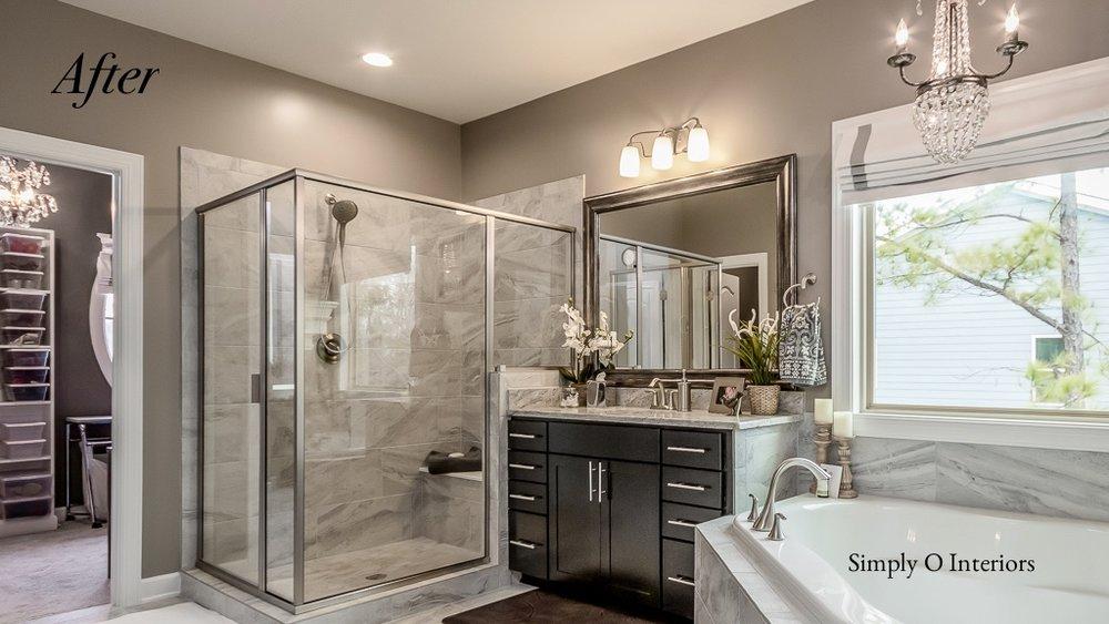 Staged Master Bathroom