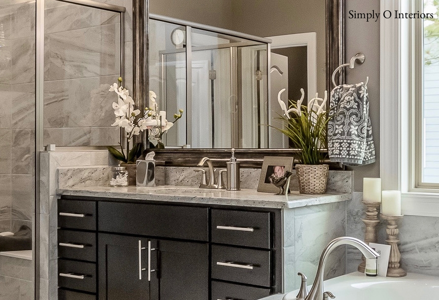 Nicely Accessorized Bathroom Countertop