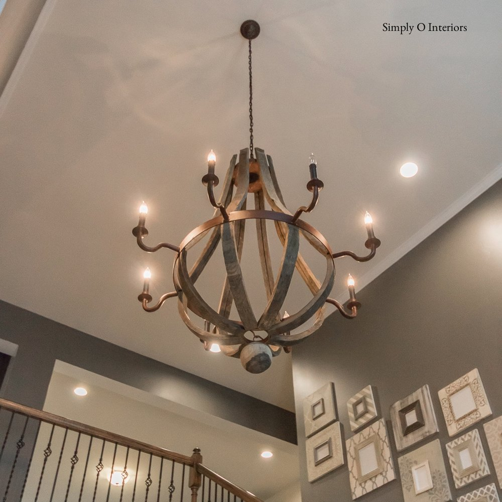 Women Barrel Chandelier