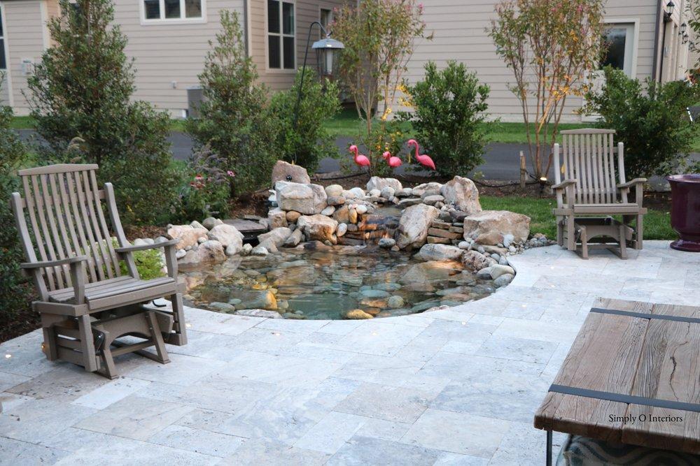 Custom Travertine patio