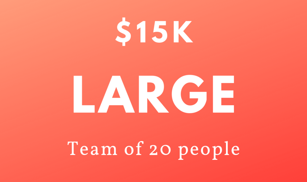 $15k - 20 peopleWeekly check-insDaily videos1 year access to the Mindset PlatformAccurate growth tracking from real-time dataOngoing support from qualified coachesBonus – An e-copy of Tofe's best-selling book, Everyone Has a Plan Until Sh!t Hits the Fan