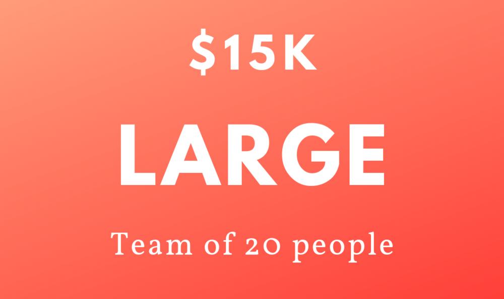 $15k - 20 people -