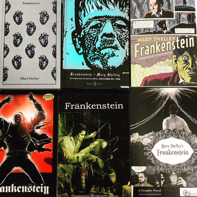 The Makara Library  houses multiple editions of Frankenstein including Spanish and Vietnamese versions, graphic adaptations, comic books, pop-up books, children's books, and an exciting collection of related titles. Library books are free to Santa Ana communities. Get your  library card  today!