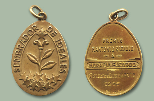 First Prize of Cardo's career, Gold Medal, at the Annual Salón of Drawing, 1965.