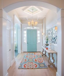 In this design, they've ignited the energy with pattern on the floor, wall and ceiling! -