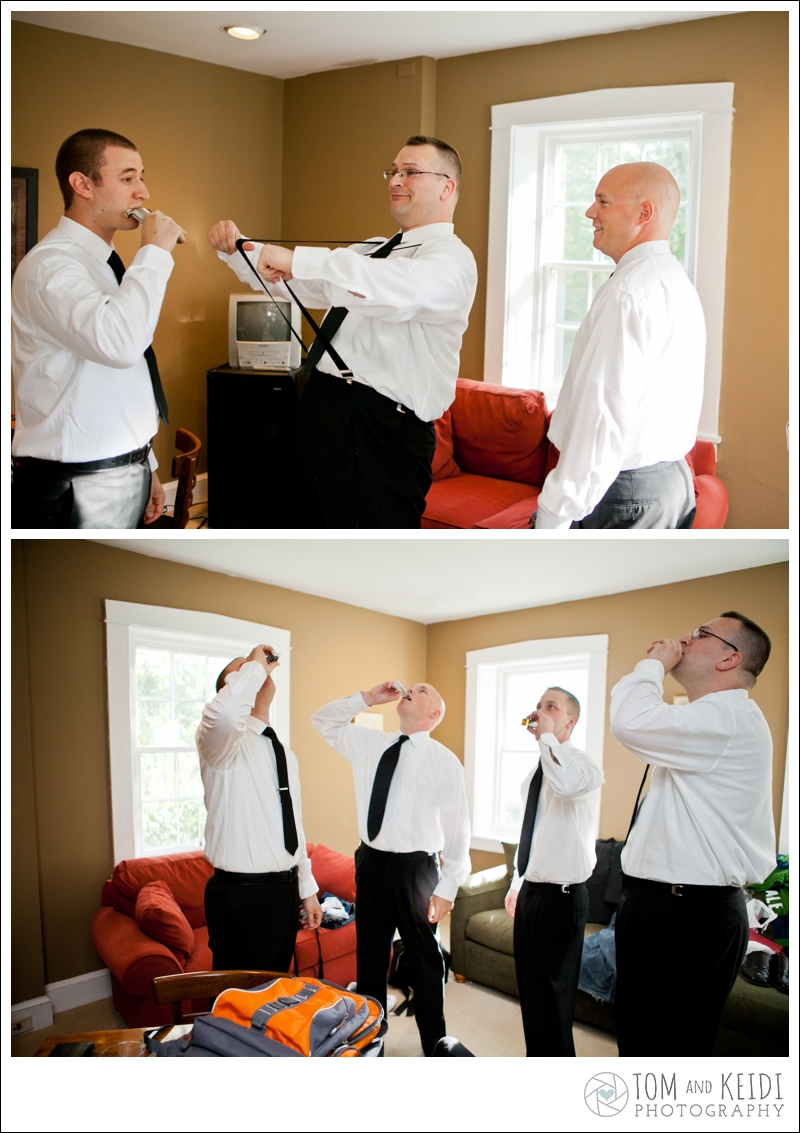 Groomsmen photo getting ready wedding