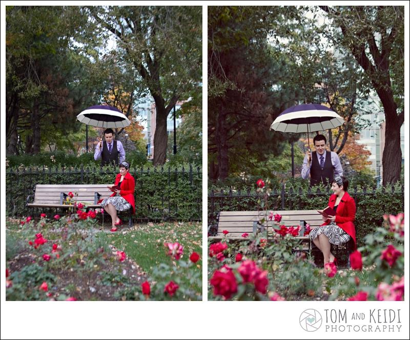 vintage couple roses st james park