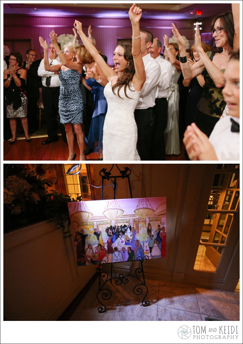 live painting wedding photos