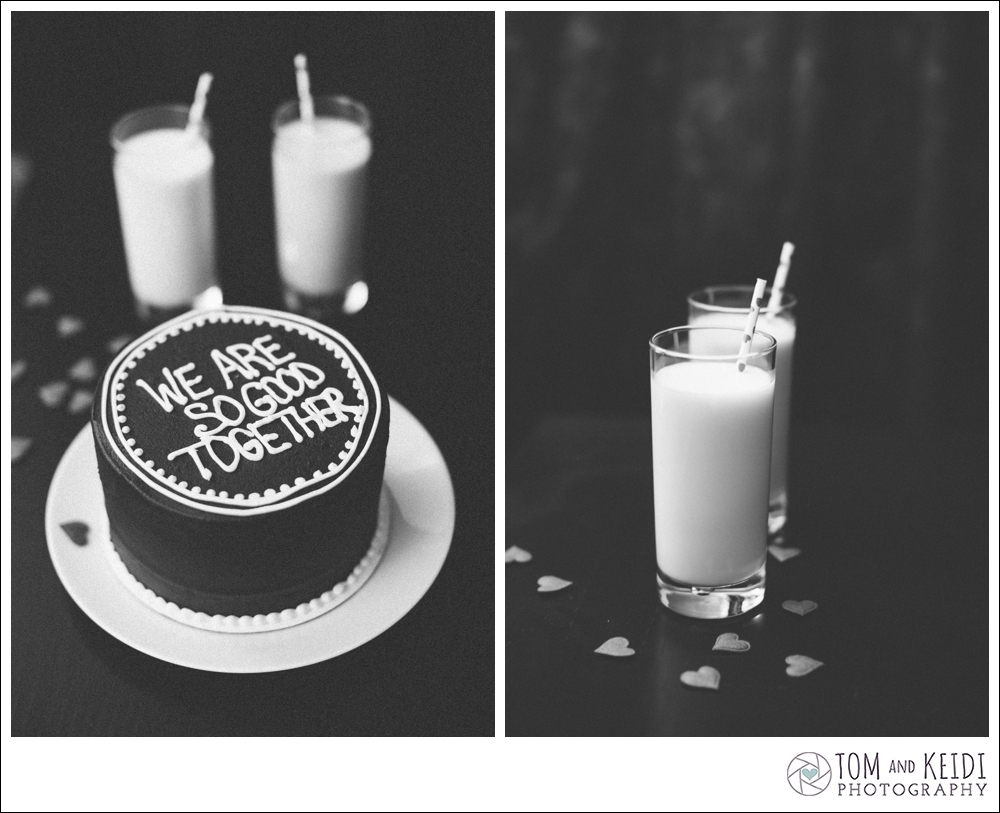 milk hearts wedding cakes