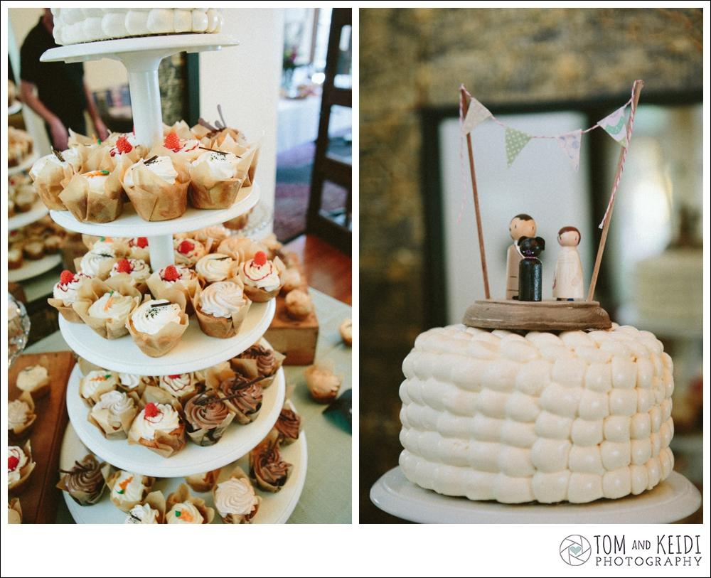 wedding cupcake dog topper