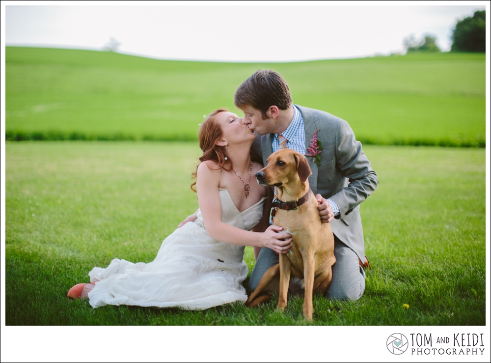 portraits with your dog on your wedding
