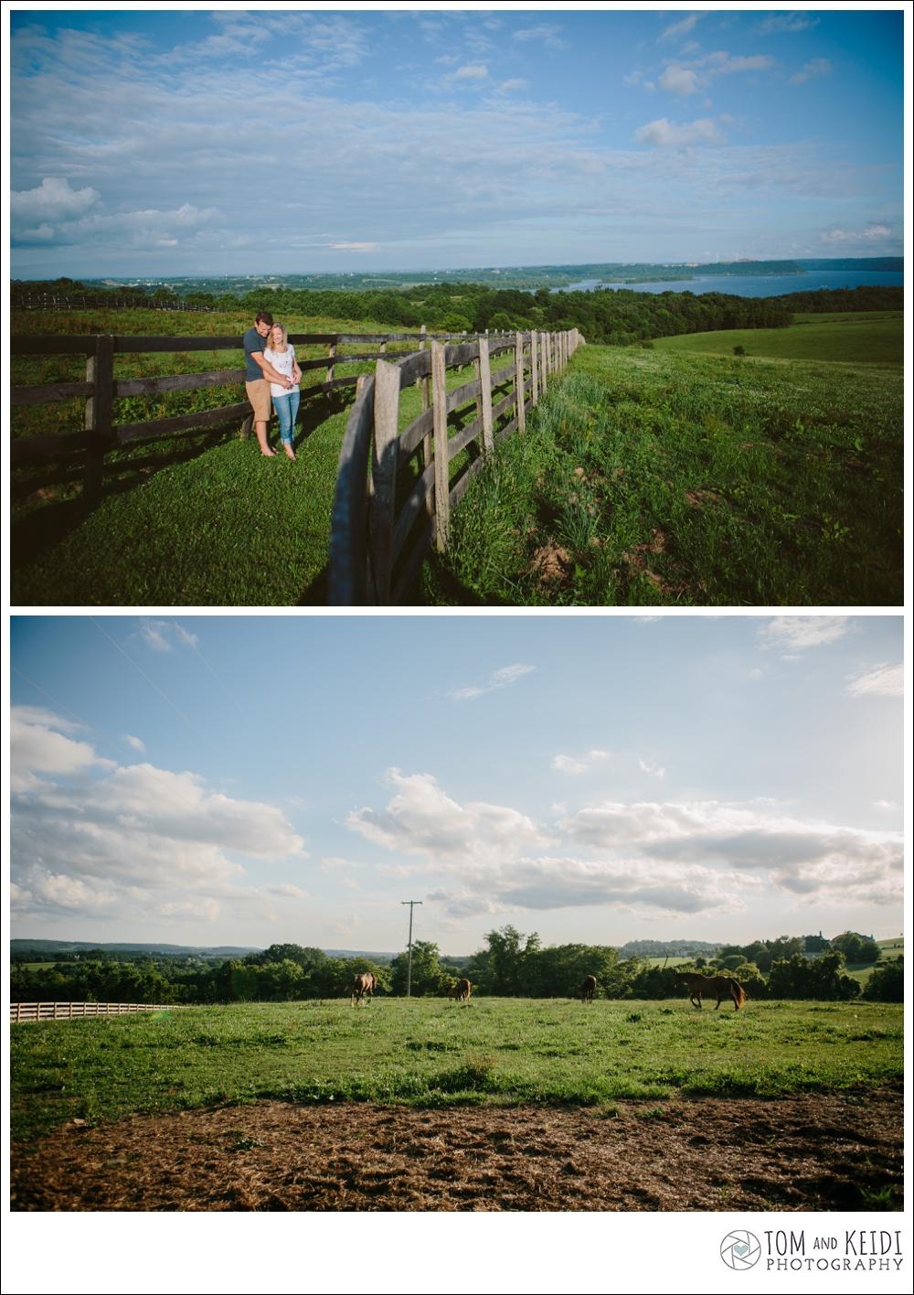 couple photos at a farm