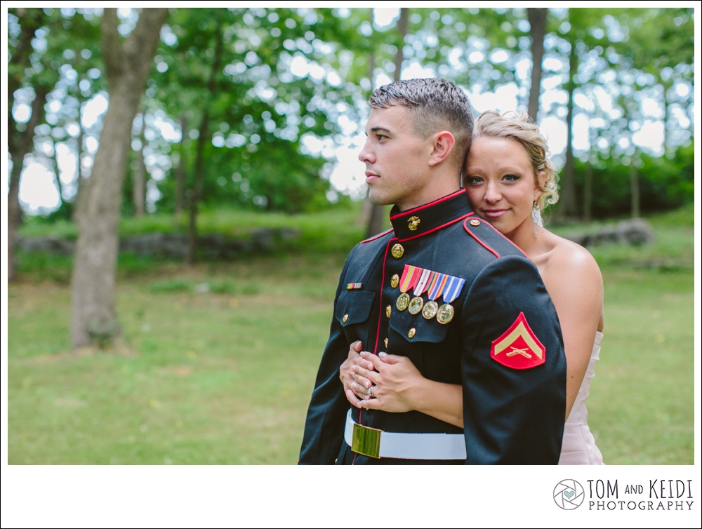beautiful military wedding