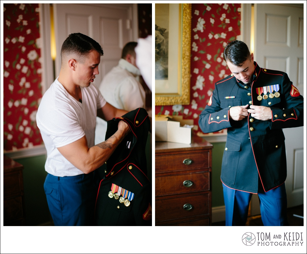 military uniform wedding