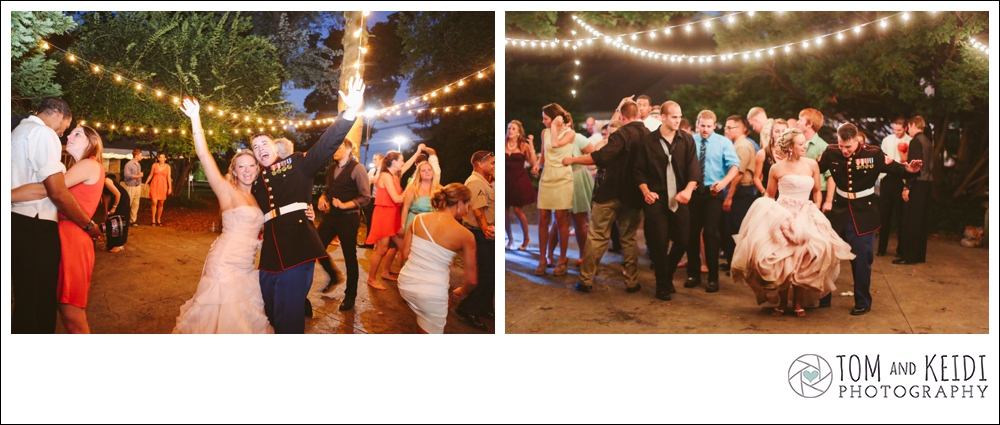 outdoor dancing reception