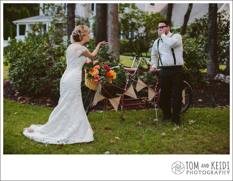tandem bike wedding