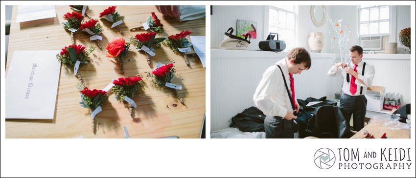fall boutonniers for groom