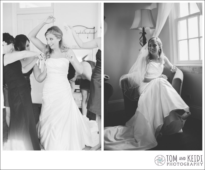 black and white bride photos