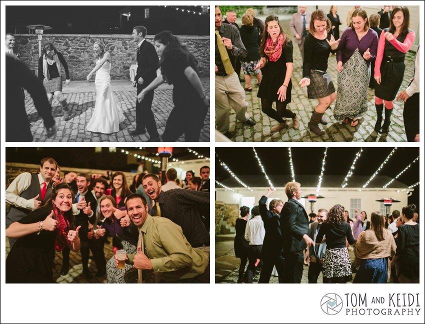 cobblestone wedding party