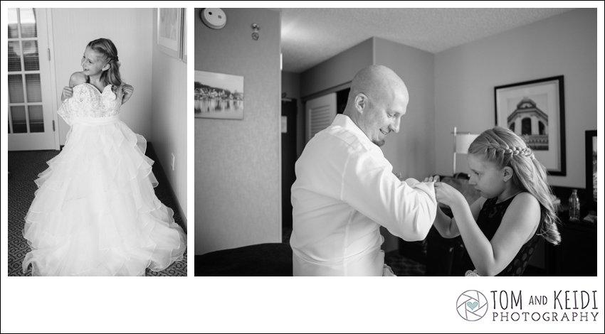 wedding photo ideas flower girl in wedding dress