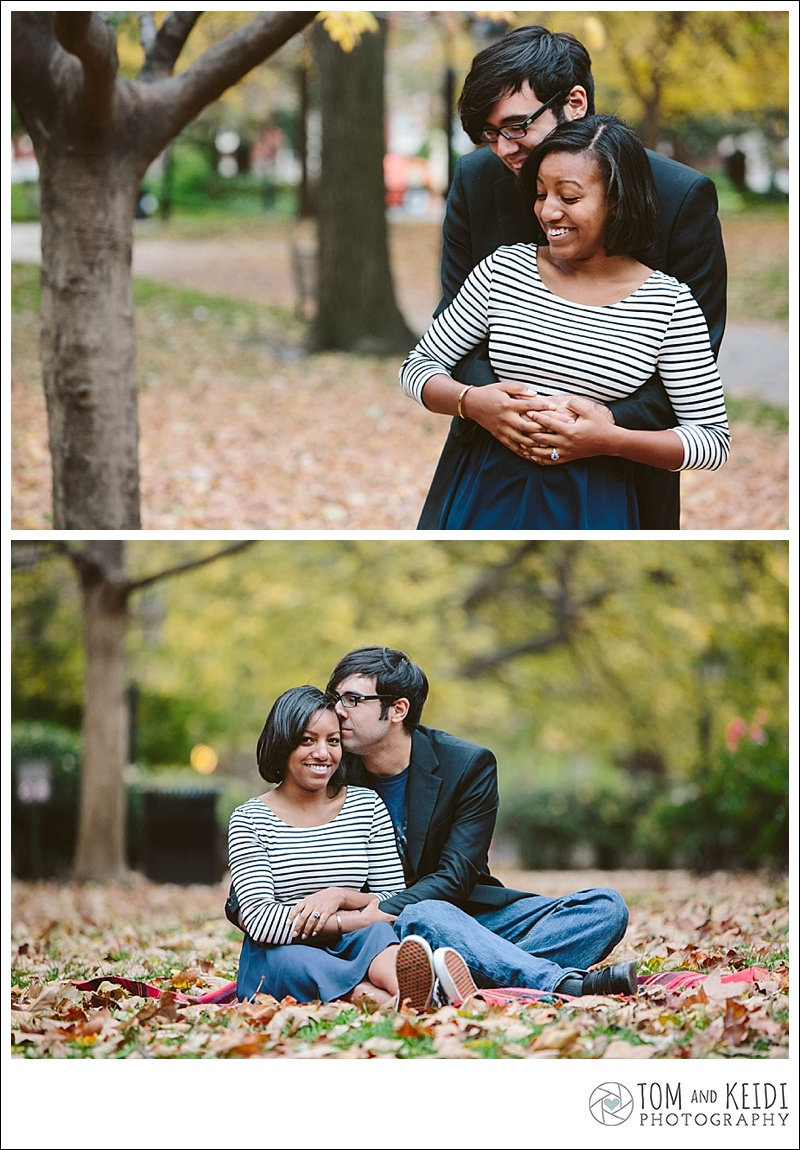 fall engagement photoshoot
