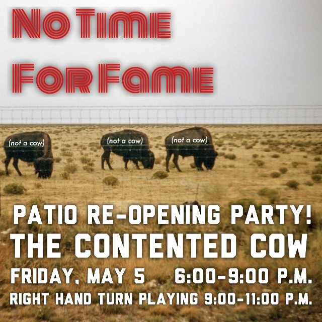 The Contented Cow - Northfield, MNMay 5, 20176:00 - 9:00 pmPatio re-opening party!