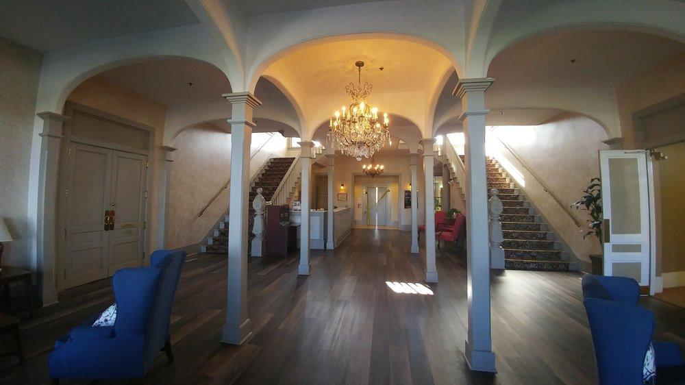 Beautifully restored lobby