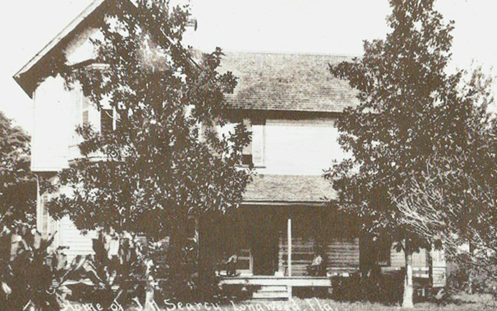 """The two-story Searcy estate built in 1888 still stands along West Church Avenue (old Markham Road)next to the gated community known as """"The Landings""""."""