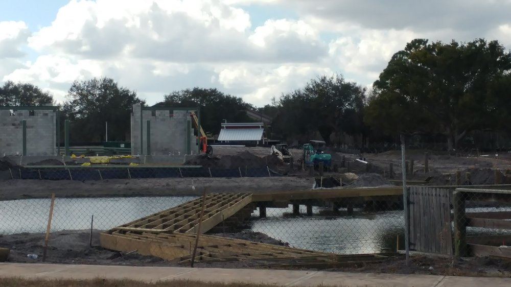 The new board walk under construction, January 2018.
