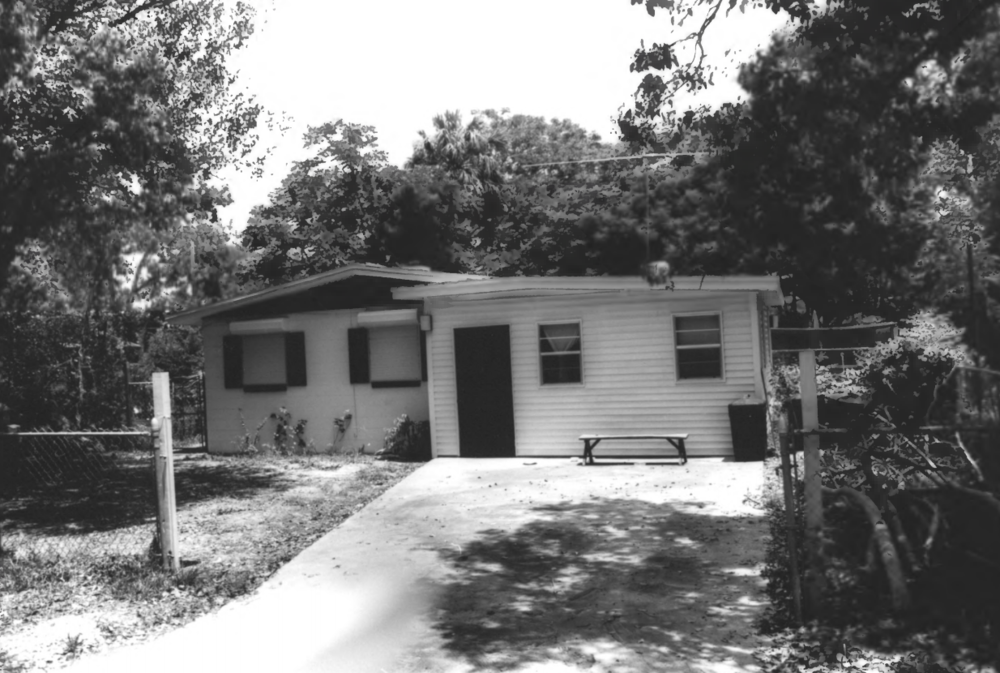 This 1960 era home used to be on this property, seen here in 1990.