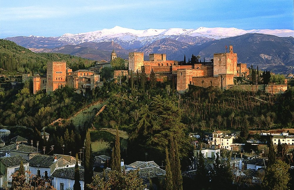 Granada is home to some of Spain's highest peaks & is known for skiing in winter