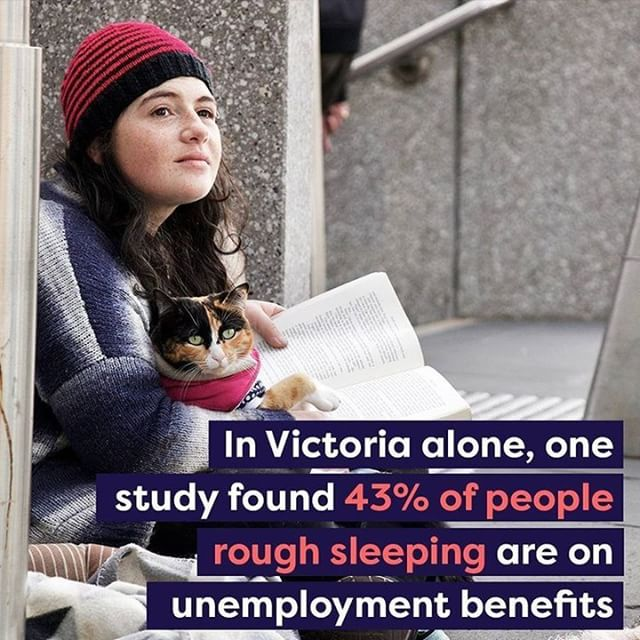 Research indicates that such low incomes are linked to higher rates of homelessness and rental stress. In Victoria alone, one study found 43% of rough sleepers were on unemployment benefits. This is not beyond belief considering  consider a single person on Newstart receives less than 40% of the minimum wage in Australia.  This National Homlessness Week consider how would you fare on as little as $38.98 a day? Should we not suppose those most vulnerable when they need it the most? #SharethePie  #homelessness #nationalhomeslessnessweek #poverty #community #support #minimumwage