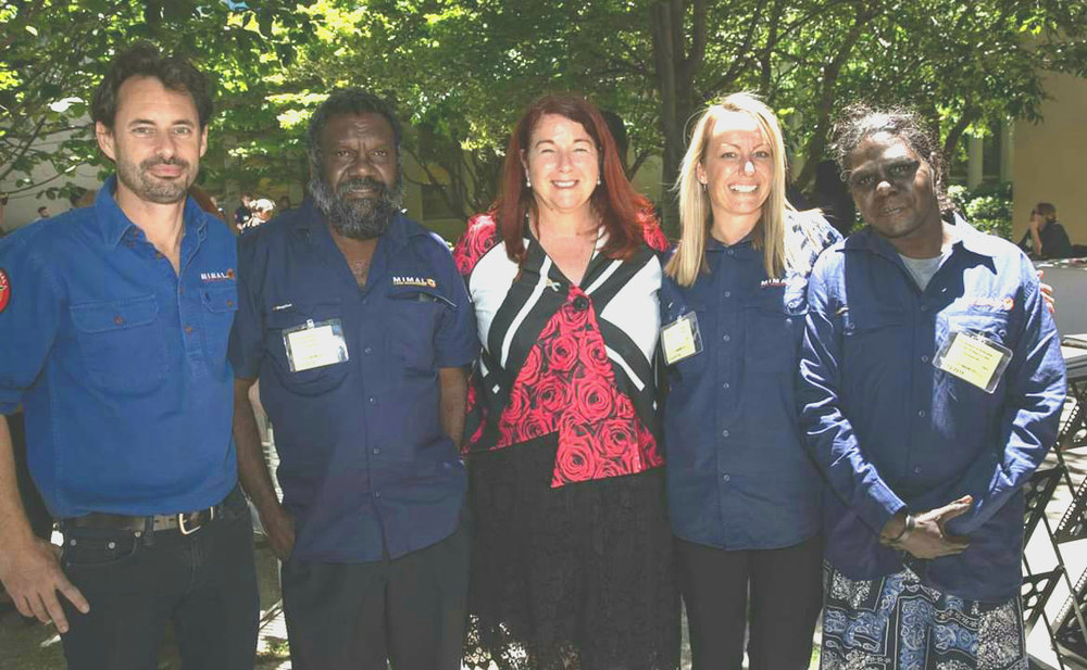 Mimal's Dominic Nicholls, John Dalywater, Julia Salt and Lydia Lawrence with the Federal Environment Minister Melissa Price