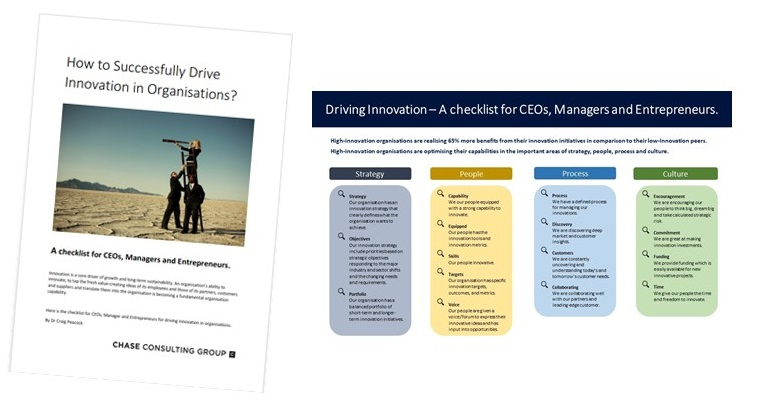 What are the key steps to successfully drive innovation? - Get the checklist for CEOs, Managers and Innovators.