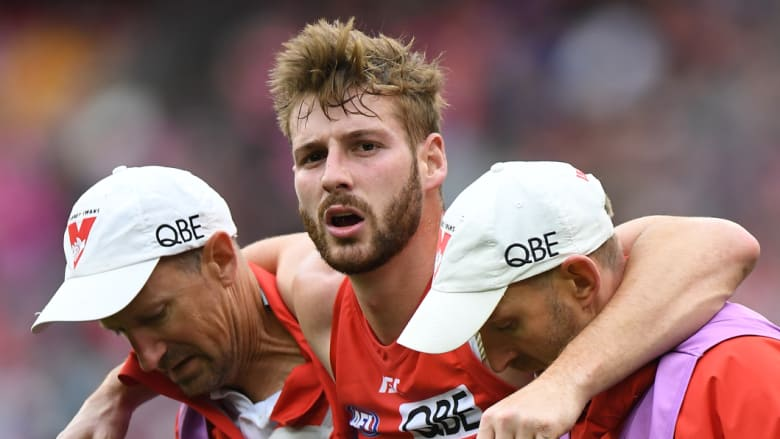 Luckless Swan Alex Johnson.  Photo: AAP