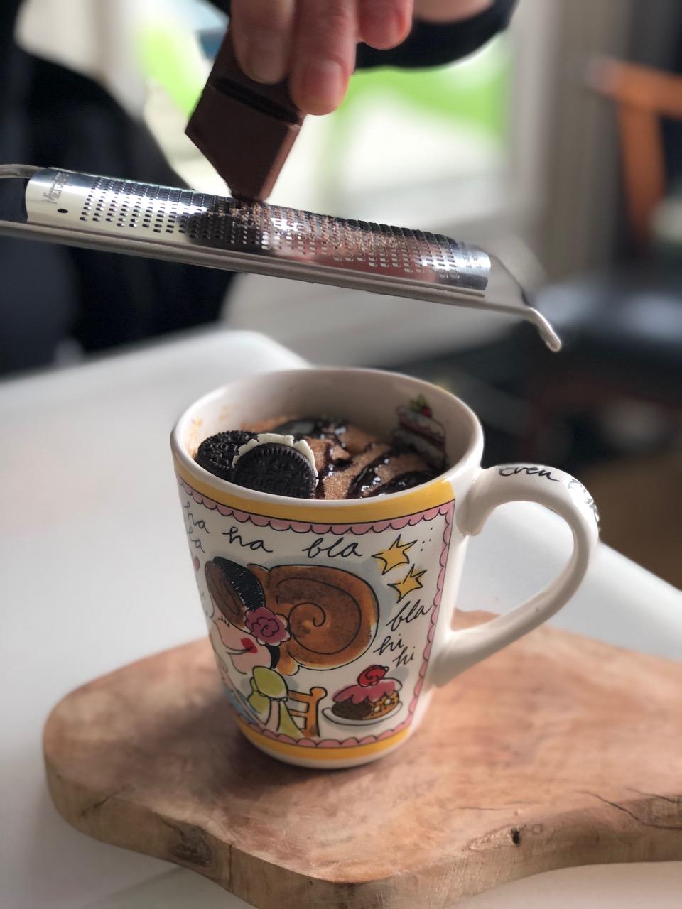 Mug cake, gemaakt door Britt… - getest door Stevie ;-)
