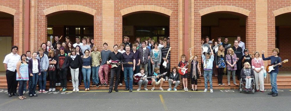 Richard Smith with Greg Souter and Rock School - Elizabeth College in Hobart, Tasmania