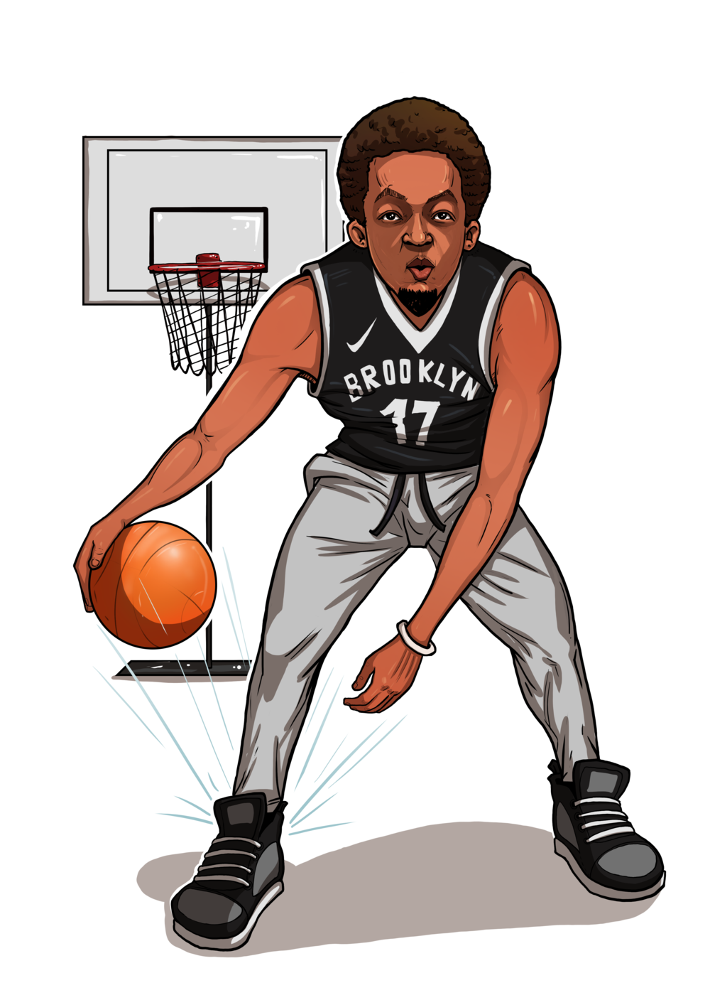"- I'm a basketball FEIND!  Everything from the history to the trade deals to coaching changes —  I'm all over it.  I'm the guy that is on NBA.com in mid-July, FOR NO REASON — just cuz! The pros may be in offseason, but not me!  I'm so obsessed that my friends call me ""The Basketball Encyclopedia."" (Well not really, I just make them ask me random questions and when I answer them right I run around screaming ""Baaaaskettttballll Encypolediaaaaal!!"" haha). I'll literally watch ANY type of basketball from AAU, to Jr. High School, to overseas games. I just love the game.  Thank you, Saint Naismith!  But I can also play.  I had a triple double, no assist at the recreation league last week!  Hit me up if you wanna talk hoops!"