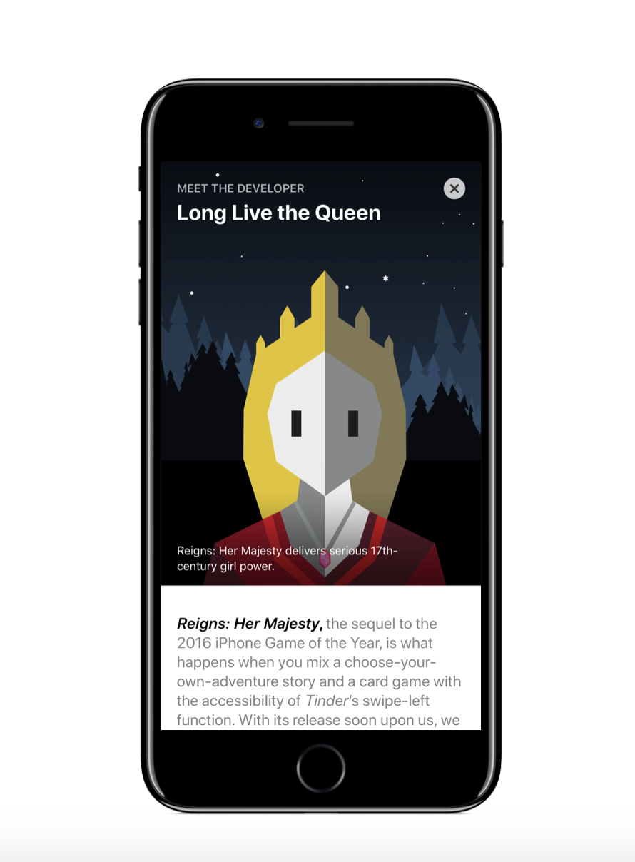 Exclusive Story that debuted on the App Store ahead of the launch of Reigns 2!  Check it out.