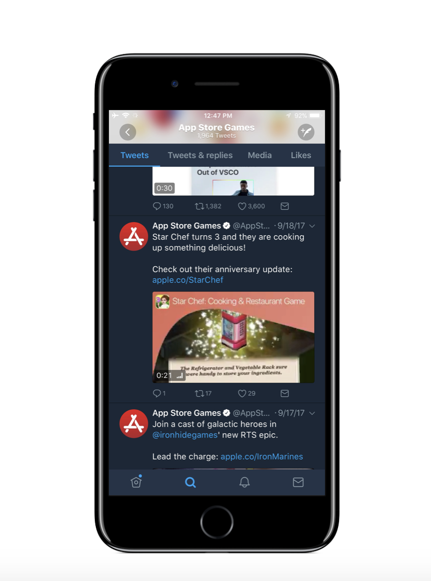 Create shareable assets as a part of your launch marketing and you may get retweeted by the App Store marketing team!