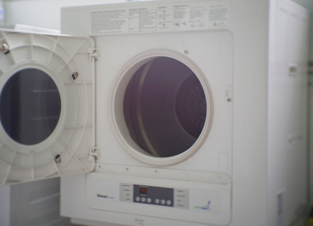 Just chuck your clothes into a dryer and save time!