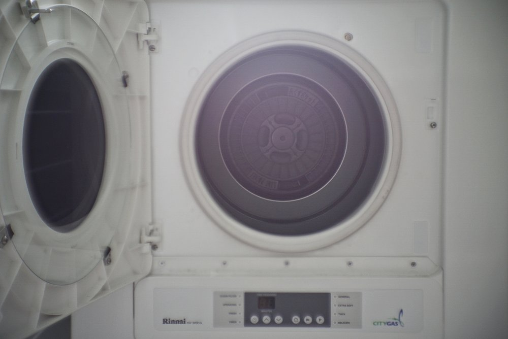 The lint filter and lint pocket inside the dryer are easy to remove and clean.
