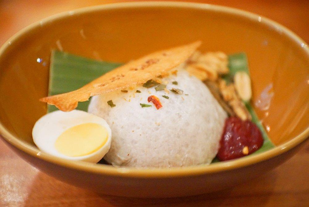 The  nasi lemak  dessert.