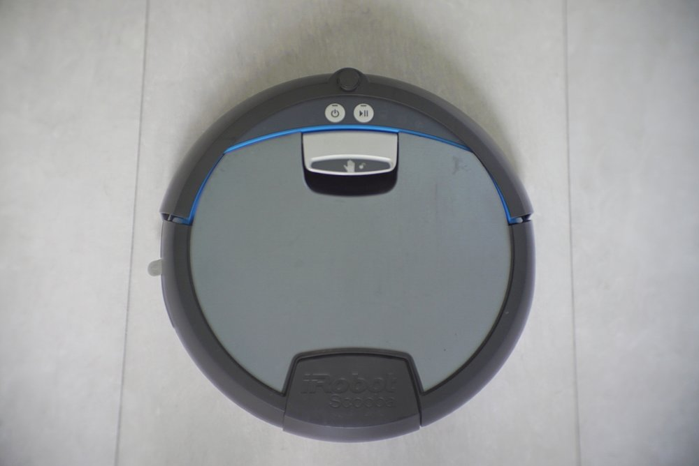 The iRobot Scooba 390 floor scrubber.