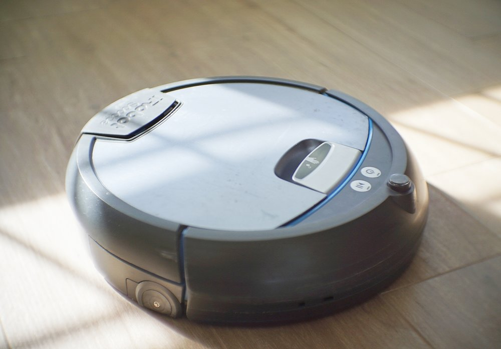 The iRobot Scooba can clean floor tiles of different textures.